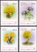 Kyrgyzstan 2014 Medicinal Plants/ Flowers/ Nature/ Medical/ Health 4v set (b5886r)