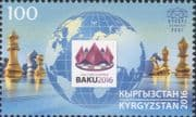 Kyrgyzstan 2016 Chess Olympiad/ Games/ Sports/ Chessmen/ Board 1v (kep1002)