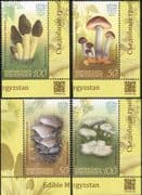 Kyrgyzstan 2017 Fungi/ Edible Mushrooms/ Plants/ Nature 4v set (s2217m)