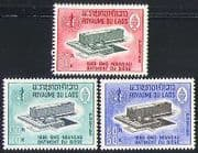 Laos 1966 WHO  /  Health  /  Buildings  /  Architecture  /  United Nations 3v set (n32059)