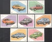 Laos 1987 Cars/ Transport/ Motoring /Motors/ Ford/ Volvo/ Alfa Romeo 7v set (b8339)