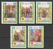 Laos 1987 Lenin  /  Soldiers  /  Oct Revolution 5v set n21151