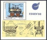 Laos 1988 Steam Engines  /  Trains  /  rail  /  Railways  /  Transport  /  StampEx 1v m  /  s (b8321)