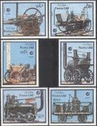 "Laos 1988 Trains/ Steam Engines/ Locomotives/ Railways/ Rail/ Transport/ ""Essen '88"" Stamp Fair/ StampEx 6v set (b8337)"