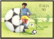 Laos 1990 Football/ WC/ World Cup/ Italia '90/ Sports/ Games/ Soccer 1v m/s (b8108)