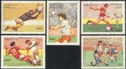 Laos 1991 Football World Cup Championships/ Soccer/ Sport/ Games/ WC USA '94  5v set (b8101)