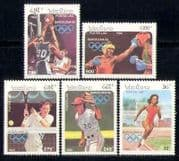 Laos 1992 Olympics  /  Sports  /  Basketball  /  Boxing set (b8423)