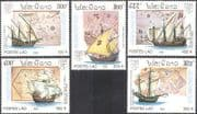 Laos 1992 Sailing Ships/ Boats/ Nautical/ Columbus/ Transport/ StampEx 5v set (b8018)