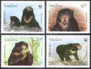 Laos 1994 WWF/ Malay Bears/ Wildlife/ Nature/ Animals/ Conservation 4v set (b8228)
