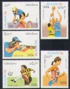 Laos 1996 Olympics  /  Sports  /  Olympic Games  /  Basketball  /  Cycling  /  Shooting 5v (n35220)