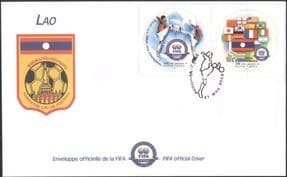 Laos 2004  FIFA 100th Anniversary/ Football/ Sports/ Games/ Soccer  2v pair FDC (n17624d)