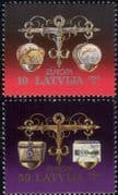 Latvia 1994  Europa/ Inventions/ Money/ Coins/ Currency/ Scales/ Business  2v set (n30902b)