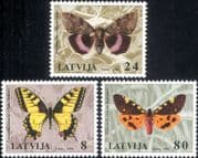 Latvia 1996  Moths/ Butterflies/ Insects/ Nature/ Conservation 3v set (s3070)