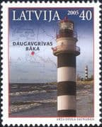 Latvia 2005 Lighthouses/ Maritime Safety/ Buildings/ Architecture/ Map 1v (n15226)