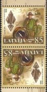 Latvia 2007  Europa/ Scouts/ Scouting/ Map/ Compass   2 x 1v tete-beche pair (n30902a)