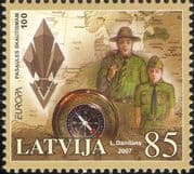 Latvia 2007 Europa/ Scouts/ Youth/ Leisure/ Scouting/ Map/ Compass 1v (n30902)