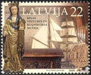 Latvia 2008 Museums/ Sailing Ships/ Statue/ Coins/ Books/ Heritage/ Art 1v (n29363)