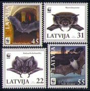 Latvia 2008 WWF Endangered Species/ Bats/ Nature/ Wildlife/ Animals/ Conservation/ Environment 4v set (n30301)