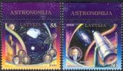 Latvia 2009 Europa/ Astronomy/ Astronomer/ Telescope/ Space/ Planets/ Asteroid/ Radio Dish 2v set (n32053)