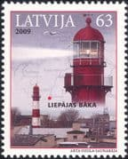 Latvia 2009 Lighthouse/ Maritime Safety/ Buildings/ Architecture/ Maps 1v  (n28431)