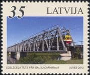 Latvia 2012 Trains/ Locomotives/ Rail/ Railway Bridges/ Transport 1v (lv1001)