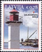 Latvia 2015  Lighthouses/ Maritime Safety/ Buildings/ Architecture/ Tugboat/ Boat/ Crane 1v (lv1029)