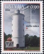 Latvia 2016  Lighthouses/ Maritime Safety/ Buildings/ Architecture/ Maps  1v (lv1030)