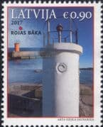 Latvia 2017  Lighthouses/ Maritime Safety/ Buildings/ Architecture/ Maps  1v  (lv1031)