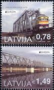 Latvia 2018 Trains/ Locomotives/ Rail/ Railway Bridges/ Transport  2v set (lv1002)