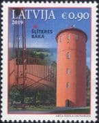 Latvia 2019  Lighthouses/ Maritime Safety/ Buildings/ Architecture/ Maps 1v (lv1033)