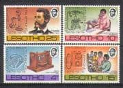 Lesotho 1976 Telephone  /  People  /  A G Bell 4v set (n25043)