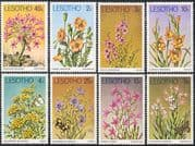 Lesotho 1978 Flowers/ Butterflies/ Plants/ Nature/ Insects 8v set (n16932)