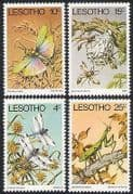 Lesotho 1978 Insects  /  Dragonfly  /  Mantis 4v set (n25037)