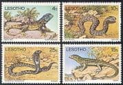 Lesotho 1979 Reptiles  /  Animals  /  Snakes  /  Lizards  /  Nature  /  Wildlife 4v set (n25038)