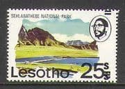 Lesotho 1980 25s on 25c Double Surch Error 1v n21928