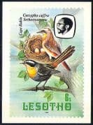 Lesotho 1982 Birds  /  Cape Robin  /  Trees  /  Nature Postcard a85