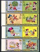 Lesotho 1982 Disney  /  12 Days Xmas  /  Birds 8v set (b1300)