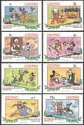 Lesotho 1983 Disney/ Mickey/ Pluto/ Christmas/. Cartoons/ Animation  8v set (b1902)
