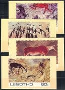 Lesotho 1983 Rock Art  /  Paintings  /  Animals Postcards (a81)
