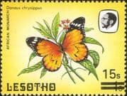 Lesotho 1984 (1986) Butterflies 15s on 1s surcharge/ Insects/ Nature 1v (b2391j)