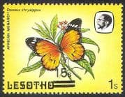 Lesotho 1984 Butterflies  /  15s on 1s Surcharge  /  Misplaced ERROR  1v  (b3153)