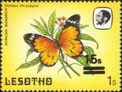 Lesotho 1984 Butterflies 15s on 1s surcharge MISREGISTER ERROR 1v (b2391m)