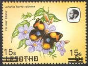 Lesotho 1984 Butterflies 15s on 5s Double Surcharge ERROR 1v (b2765)