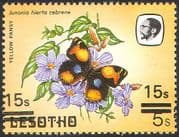 Lesotho 1984 Butterflies 15s on 5s Double Surcharge ERROR 1v (b2765d)
