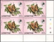 Lesotho 1984 Butterflies 9s on 30s surcharge SHORT BARS ERROR 4v blk (b2391ba)