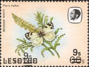 Lesotho 1984 Butterflies 9s on 60s DOUBLE surcharge ERROR/ Short Bars/ Nature  1v (b3691r)