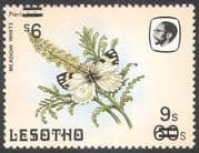 Lesotho 1984 Butterflies 9s on 60s Surcharge ERROR /Double/  Inverted 1v (b2394)
