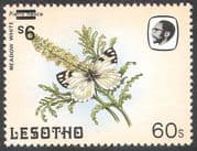 Lesotho 1984 Butterflies 9s on 60s Surcharge ERROR/ Inverted/ Misplaced 1v (b3692)