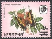 Lesotho 1984 Butterflies/ Butterfly/ Insects/ Nature 9s on 30s surcharge 1v (a69b)