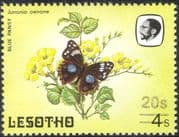 Lesotho 1984 Butterflies/ Butterfly/ Nature/ Insects/ 20s on 4s Surcharge/ FAINT print variety/ error 1v (b3690b)